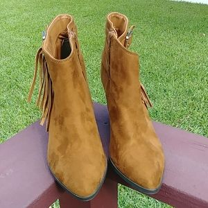 Jennifer Lopez Brown faux suede Ankle Boots